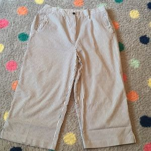 Pants - Navy and White Cropped Pants